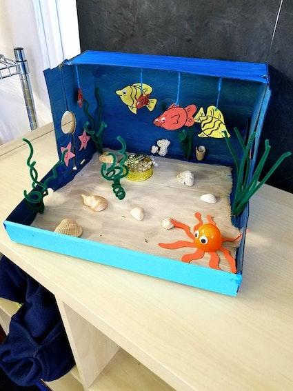 Make Your Own Diorama: Make A Treasure Ocean Diorama