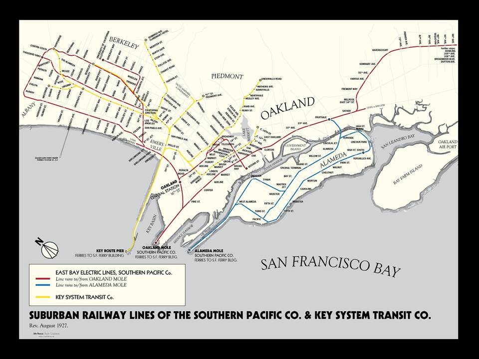 Oakland Subway Map.Hobbyist S Map Offers Glimpse Into Lost Routes Of East Bay S 1920s