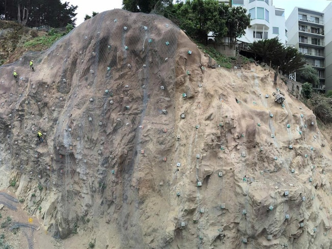 Rock slope