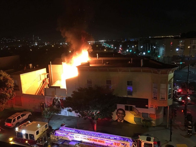 Fire on 3rd and oakdale
