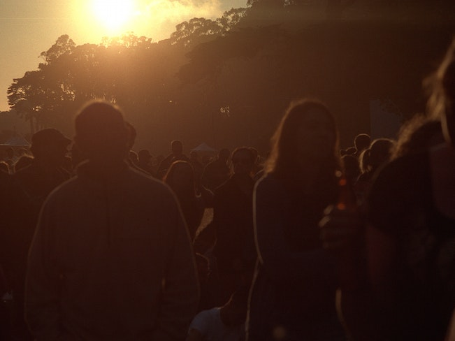 Sunset at hardly strictly