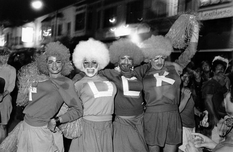 Halloween in the castro cheerleaders