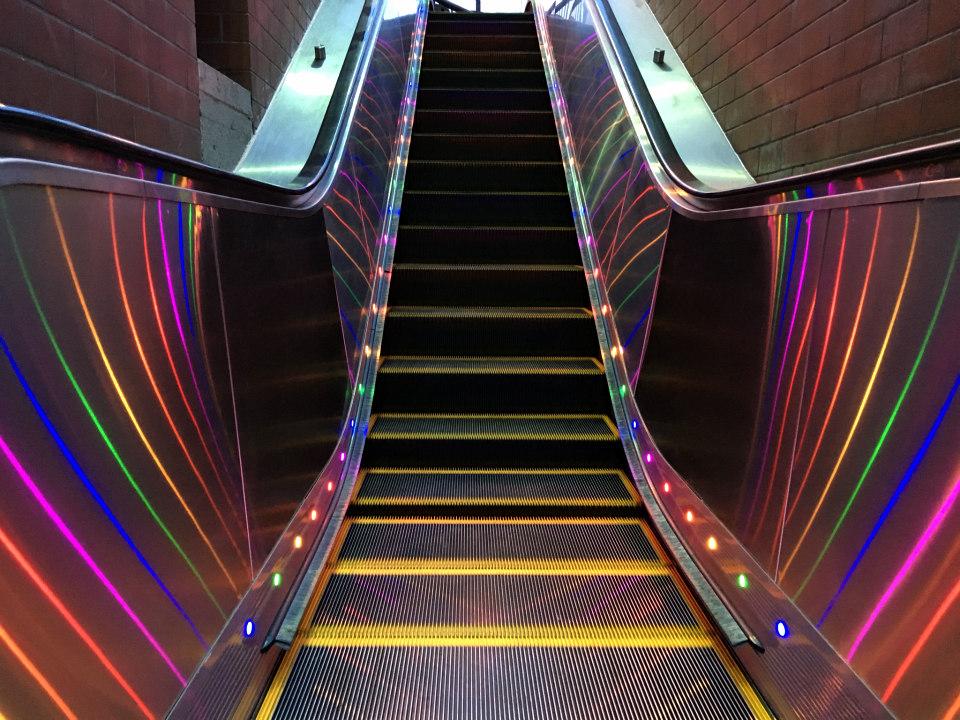 Rainbow Lights Are Headed To All 4 Castro Station Escalators