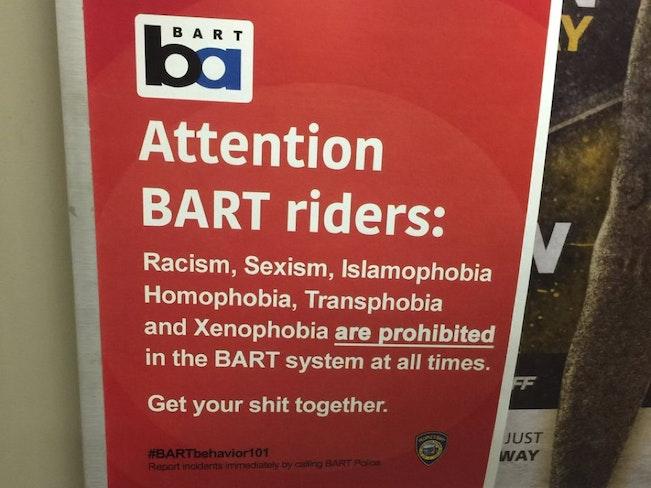 Bart hate crime advocacy