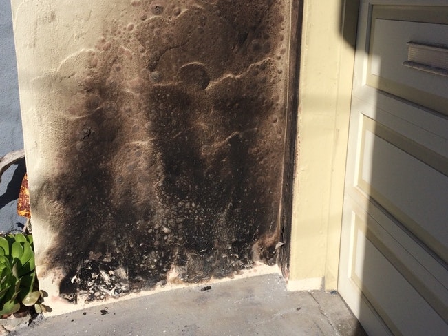 Scorch marks on wall at home on 46th and rivera