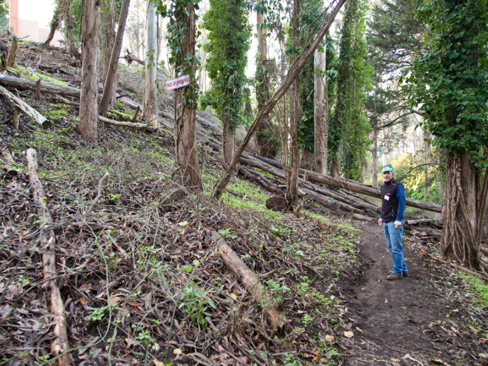 Schneider on the trail in December 2016