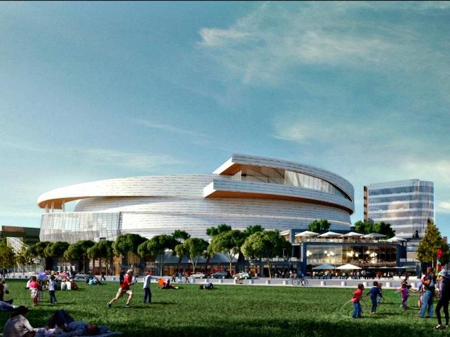 Warriors stadium steelblue
