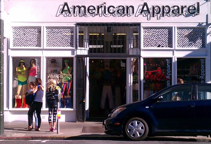 ffc04a24fb American Apparel To Close All 3 Of Its San Francisco Retail Stores ...