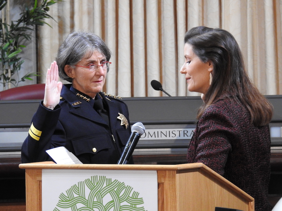 New Oakland Police Chief Anne Kirkpatrick Sworn In Today