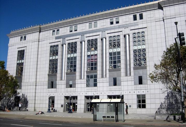 Sfpl main entrance exterior