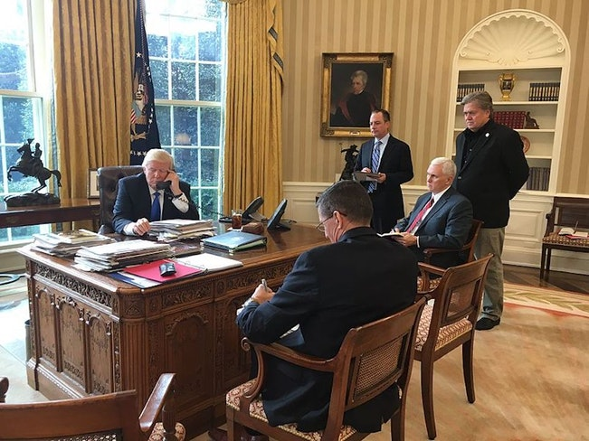 Trump speaking with putin oval office  1