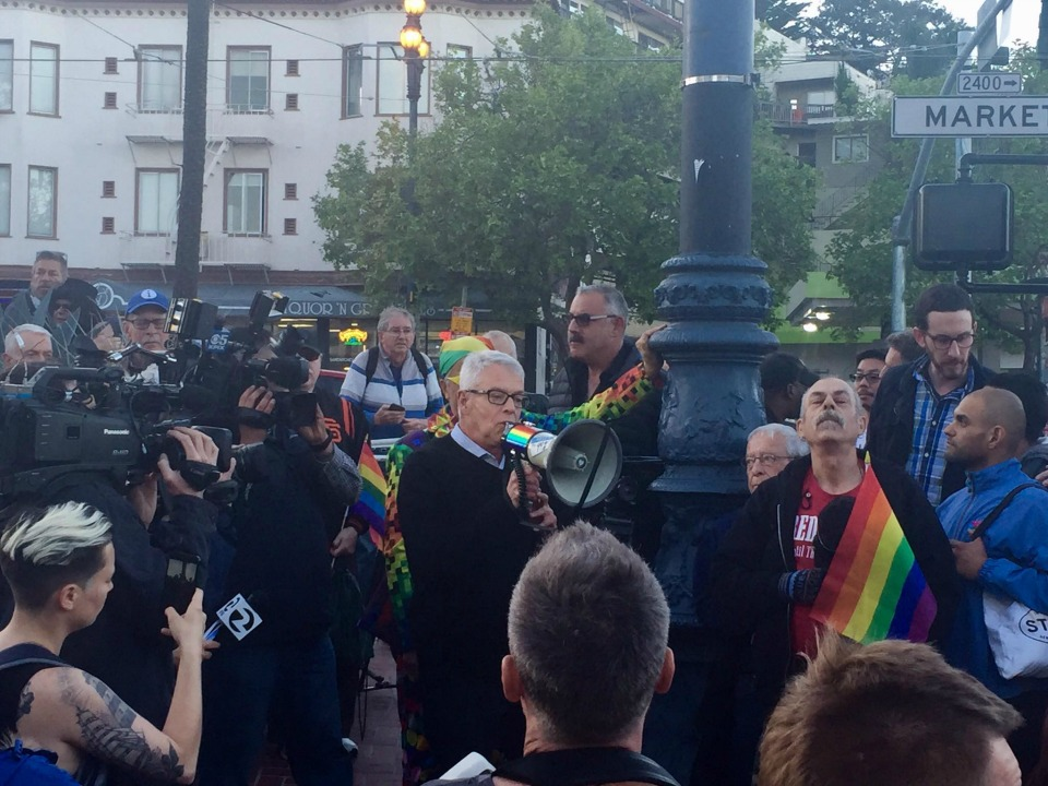 Hundreds Gather To Remember Rainbow Flag Creator Gilbert