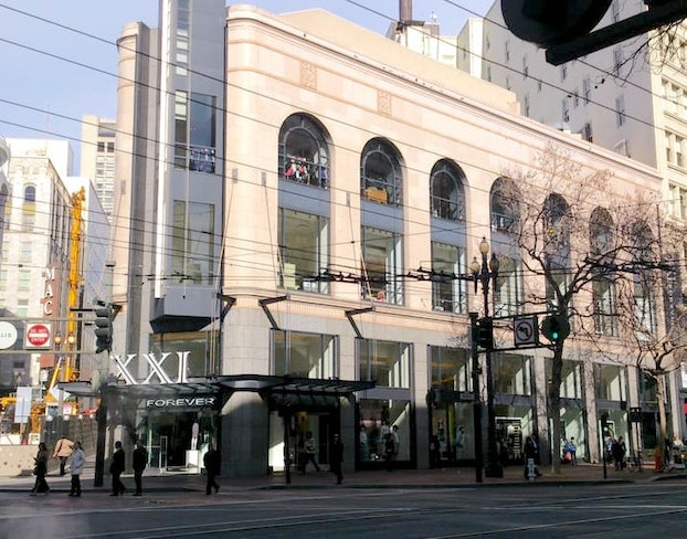 Forever 21 sued union square sf