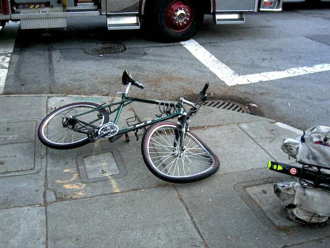 Bike crash by salim vriji