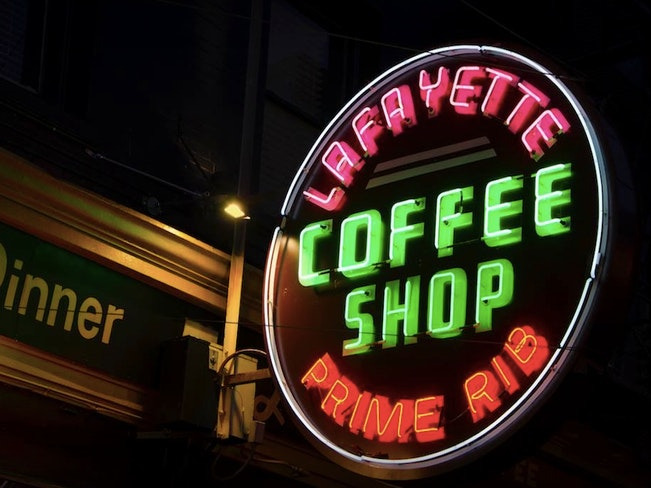 Lafayette coffee sign al barna fb