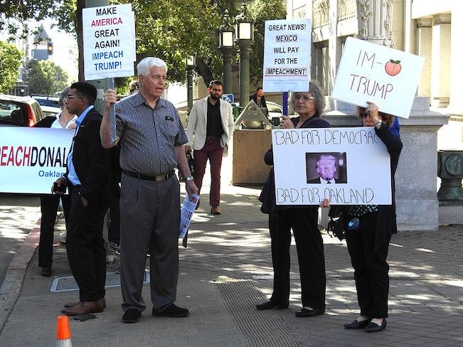 Oakland council trump protest