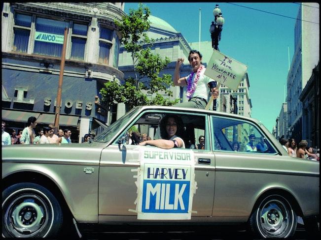 Milk at pride parade