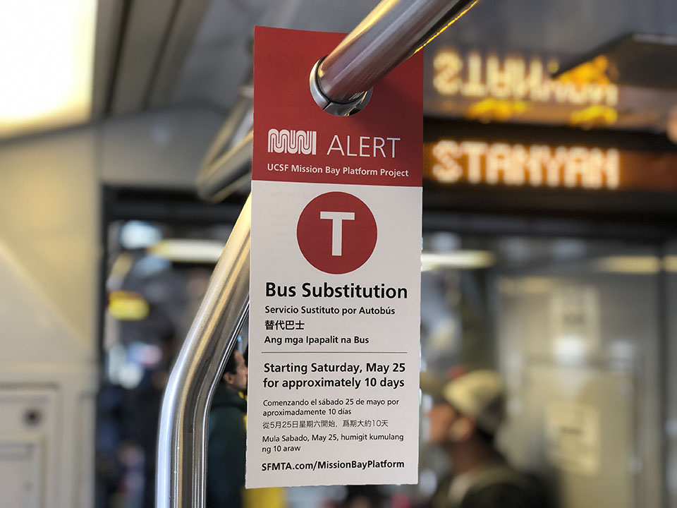Muni's T-Third line to undergo another 10-day bus