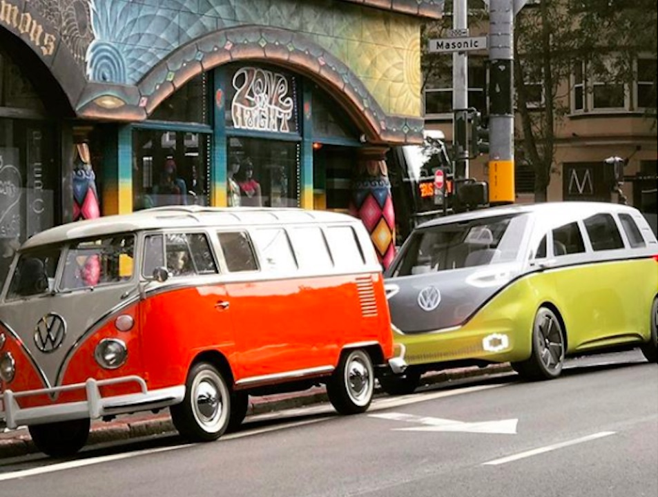 Weird Trip On Haight New Electric Volkswagen Microbus Spotted