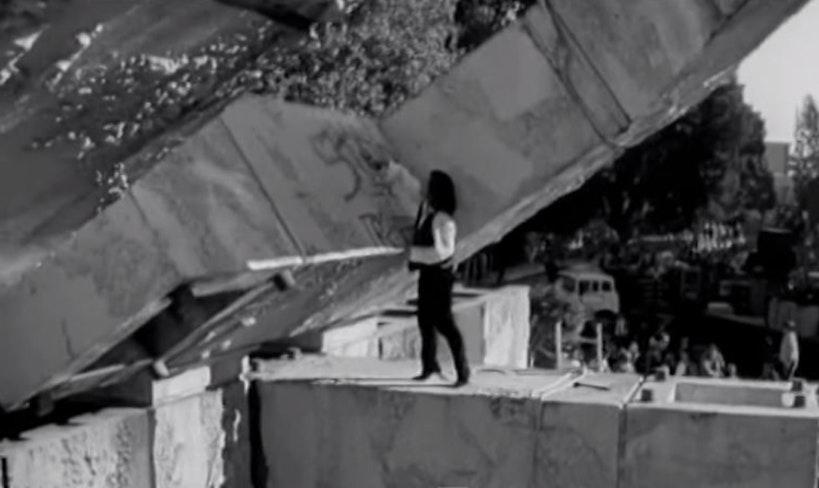 Bono spray painting fountain 1987 sfmta