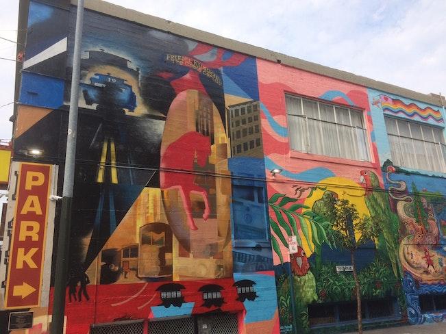 Hemlock alley left murals