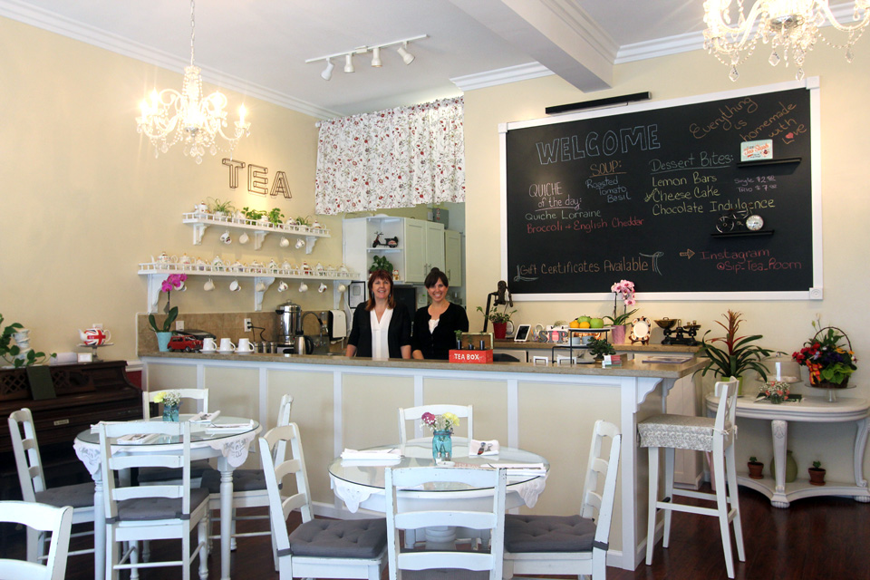 Owners Paula Dinnell Left And Shannon De Leon Right Photo Courtesy Sip Tea Room