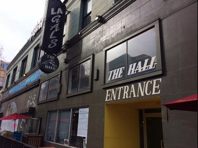 The hall entrance