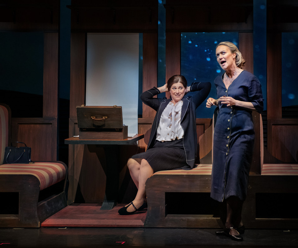 """Marnie Breckenridge (right) in """"Today It Rains,"""" with Blythe Gaissert as Georgia O'Keeffe."""