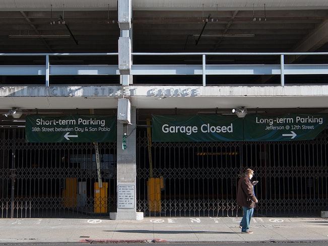 Closed clay street garage