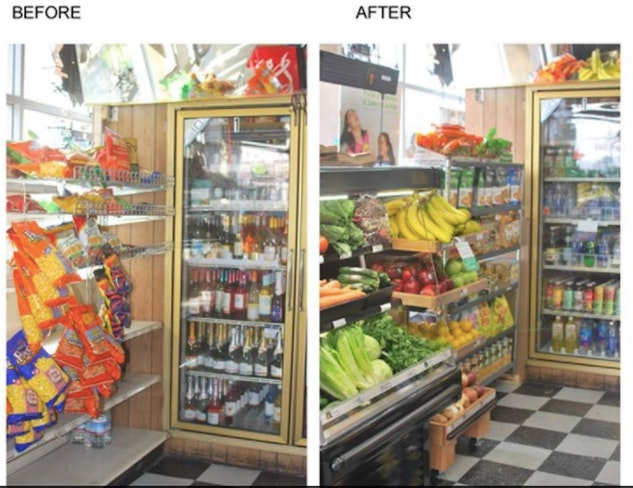 Healthy corner stores daldas before and after