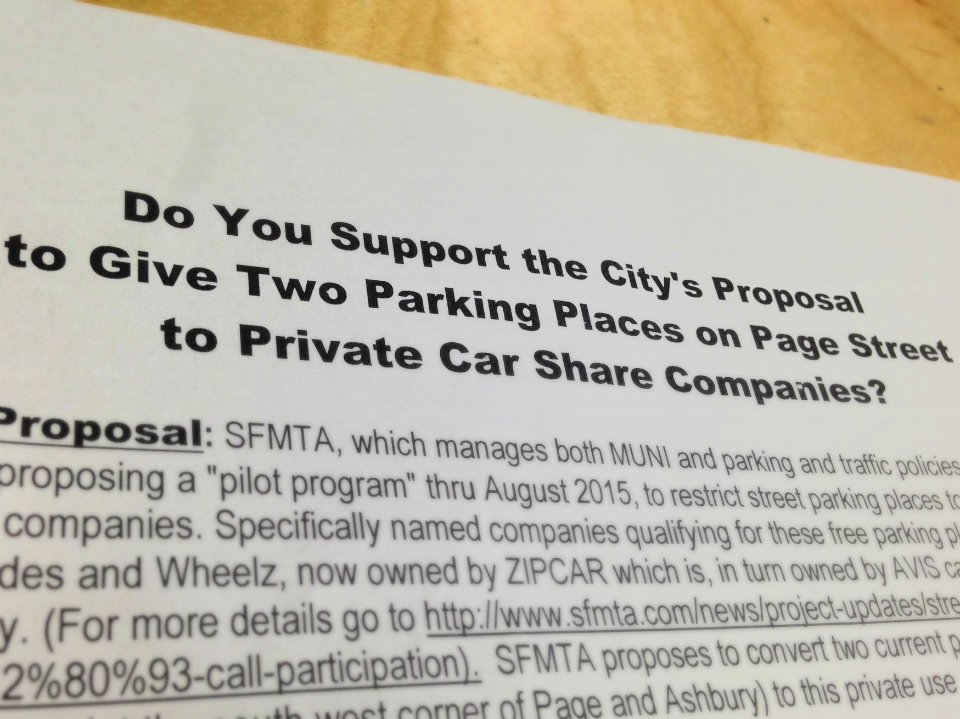 Parking For Private Car Shares Sees Backlash In The Haight