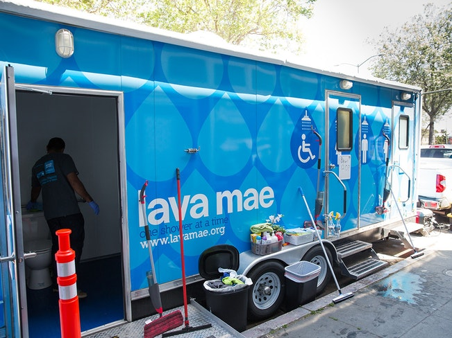 Lava mae oakland pop up care village 2