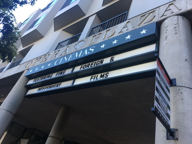 Opera plaza cinemas sign