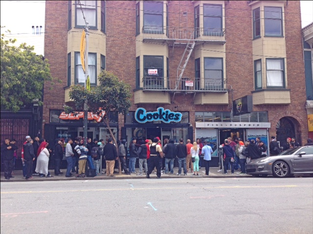 8f352bee20 Long Lines At  Cookies  Store Opening Today